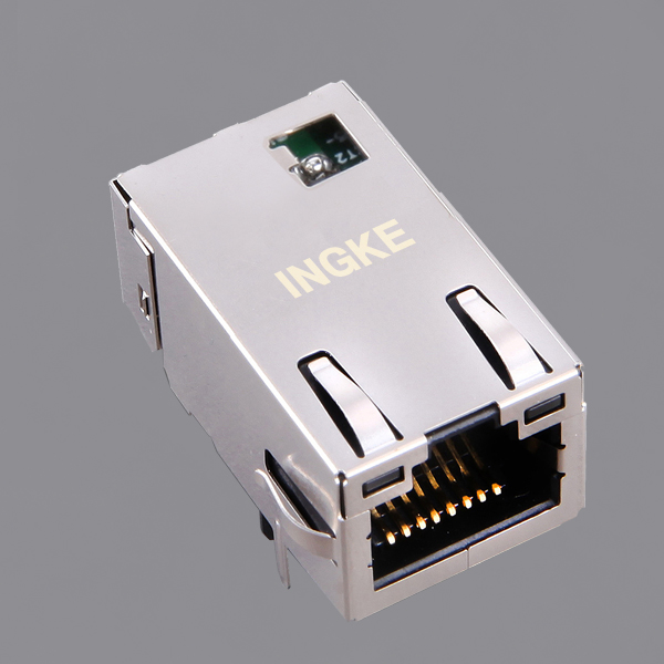 L8BE-1G1T-BFH 1GBase-T RJ45 Ethernet Connector Low Profile(Gigabit Magnetic)