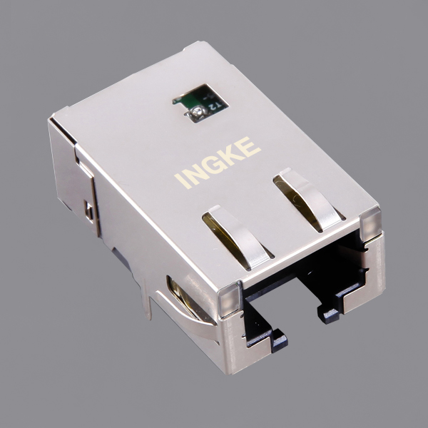 G15-111T-076C 10GBase-T RJ45 Ethernet Connector with EMI Finger 10GbE Magjack