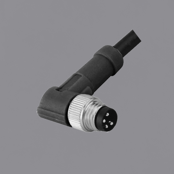 YKM8-OTB010xx M8 Circular Waterproof Connector IP67 Threaded Locking Overmolded Cable Assemblies