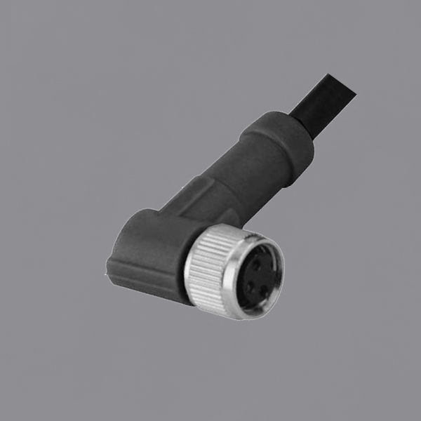 YKM8-OTB020xx M8 Waterproof Connector IP67 Female Threaded Locking Overmolded Cable Assemblies