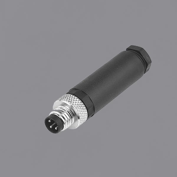 YKM8-OTS110xx M8 Waterproof Connector Straight Overmolded Plug M8 Male Circular Connector