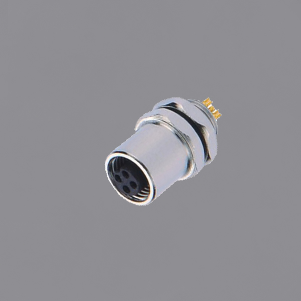 YKM5-PTS120xA M5 Waterproof Connector Panel Mount Solder Threaded Locking Female Circular Socket