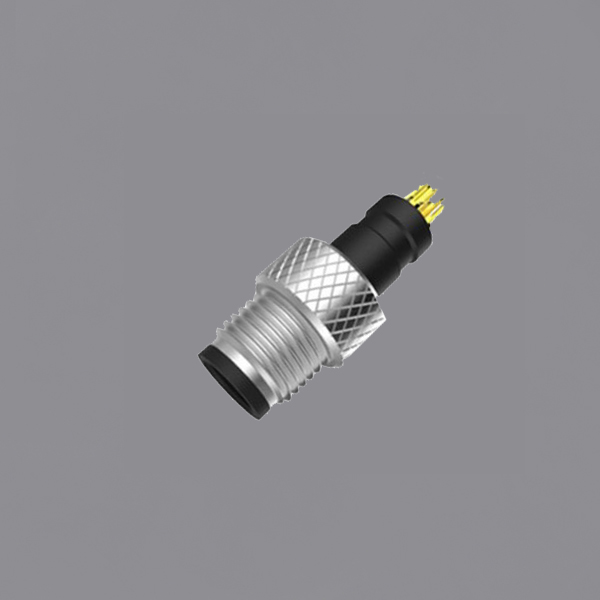 YKM5-PTS010xA M5 Waterproof Connector Panel Mount Threaded Locking IP67 Male Circular Plug