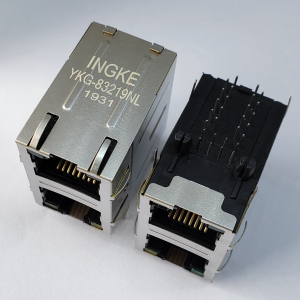 YKG-83219NL 2X1 Ports 10/100/1000Base-T RJ45 LAN Transformer Gigabit Magnetic Connector