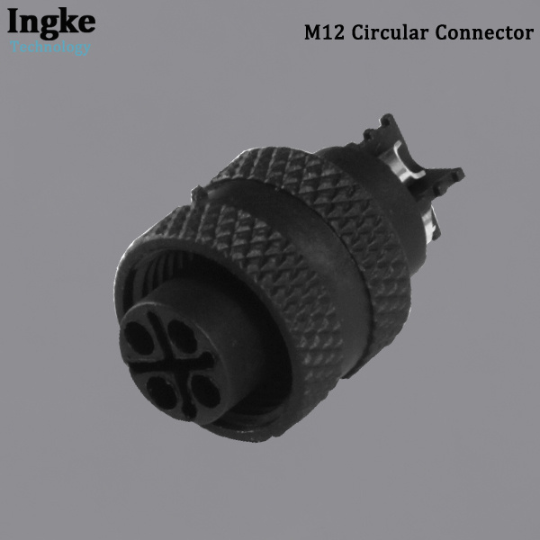 YKM12-ATS1204A M12 Circular Connector IP67 Waterproof Screw Plastic Sensor Socket