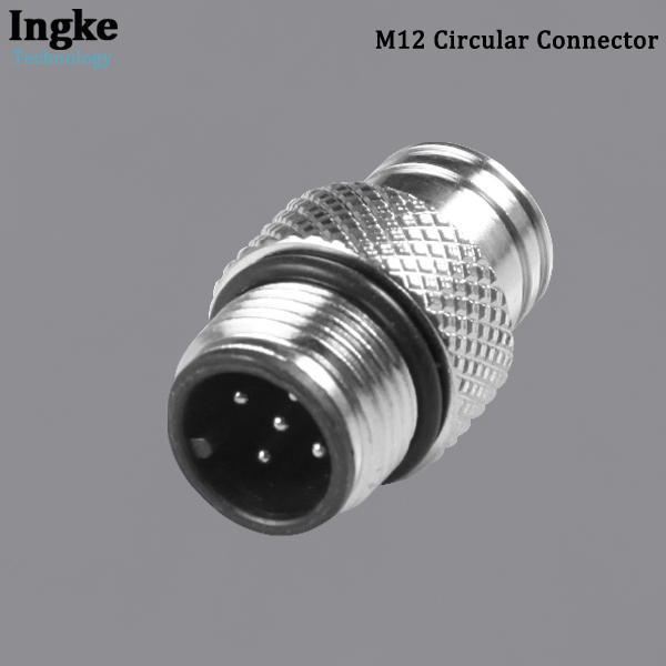 YKM12-PTS110x9A M12 Circular Connector IP67 Waterproof Shielded Sensor Plug