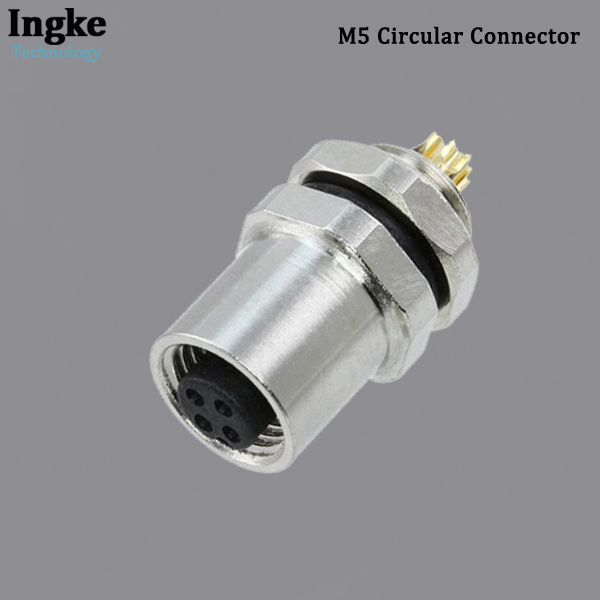 851-004-203R001 M5 Circular Connector IP67 Waterproof Panel Mount Sensor Socket