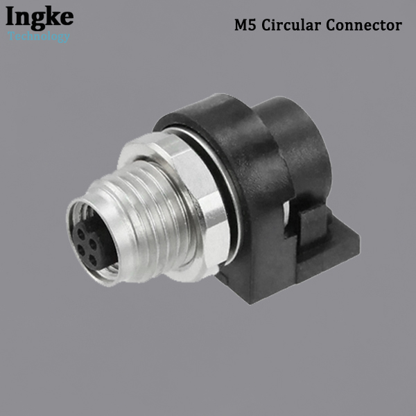 853-004-213R001 M5 Circular Connector IP67 Waterproof Right Angle Sensor Socket Connector
