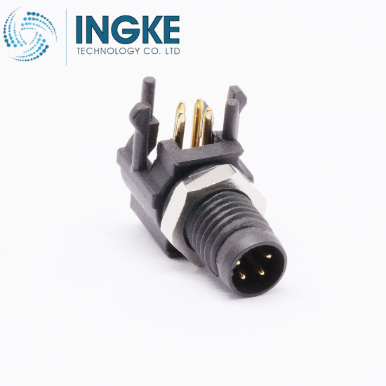 3-2172067-2 M8 Circular Connector PCB Mount Right Angle IP67 Waterproof Sensor Plug