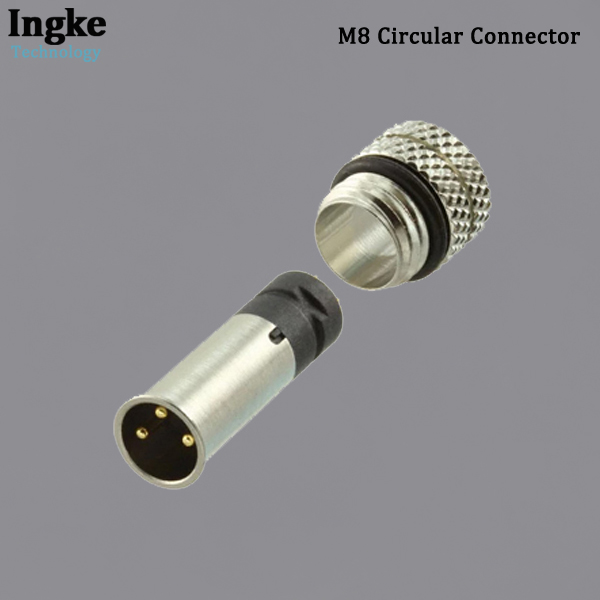 854-003-103RLS4 M8 Circular Connector IP67 Waterproof Solder Male Sensor Connector