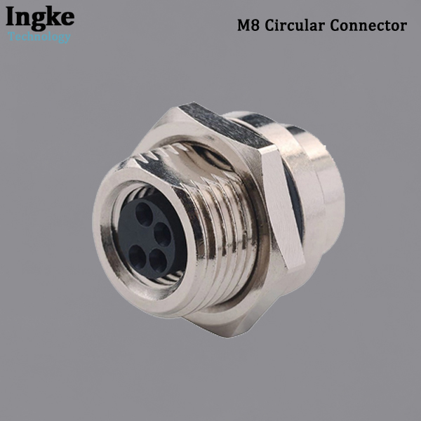 855-004-203R004 M8 Circular Connector Panel Mount Solder Cup Female Sensor Socket