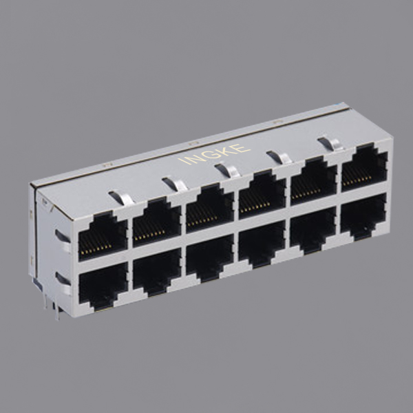 YKJ-822619NL 2X6 10/100Base-T RJ45 Modular Jack Magnetic Ethernet without LED