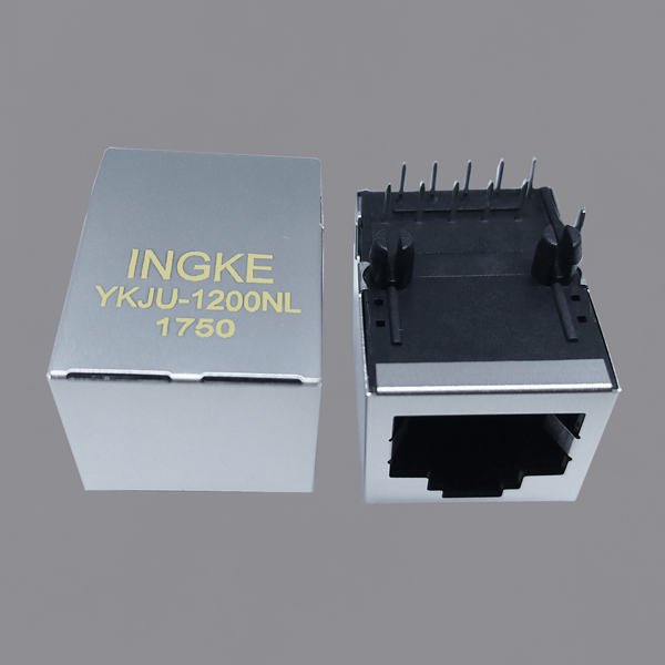 YKJU-1200NL 10/100Base-T RJ45 Modular Jack POE Plus Magnetic Connector