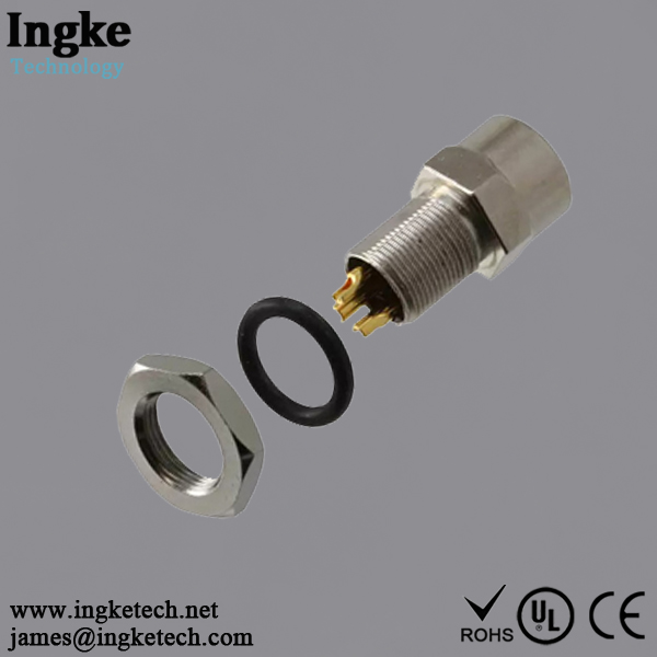 1838839-1 3 Position M8 Circular Connector Receptacle IP67 Female Socket Solder