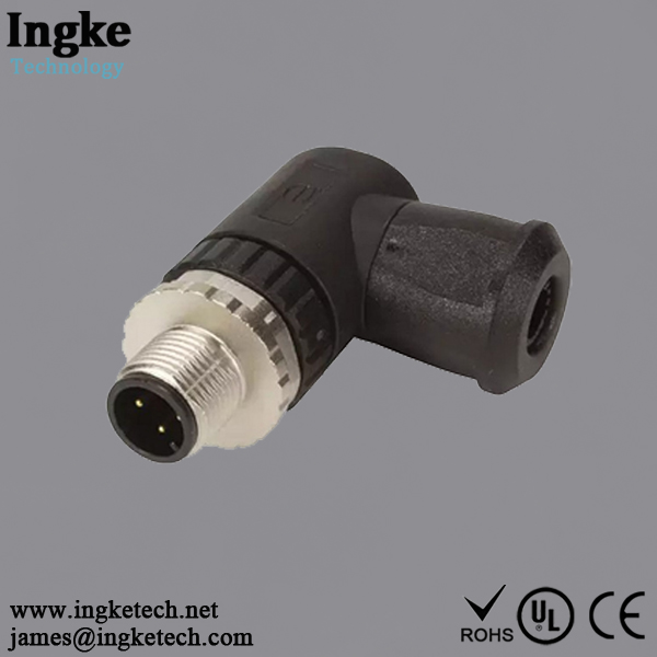 21023593401 4 Position M8 Circular Connector IP67 Male Sensor Plug Screw