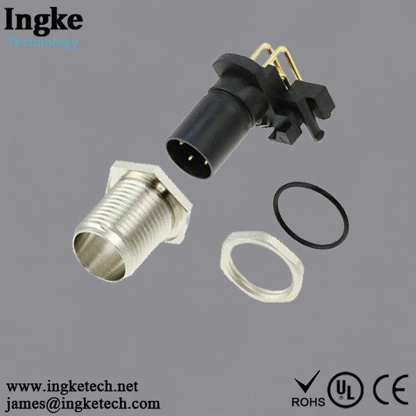 3-2172081-2 4 Position M12 Circular Connector IP68 Male Sensor Socket Solder