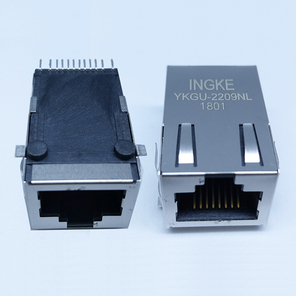 YKGU-2209NL 1000Base-T RJ45 Modular Jack SMT Gigabit Magnetic Connector