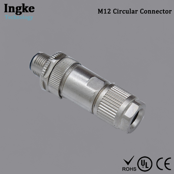 MSAS-08BMMB-SL7001 M12 Circular Connector 8 Pin IP67 Male Plug