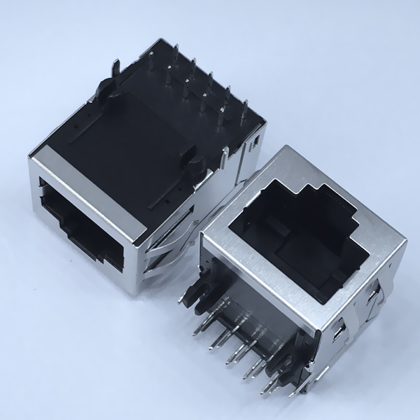 YKJU-0219NL 10/100Base-T Tab Up RJ45 Magnetic Connector POE