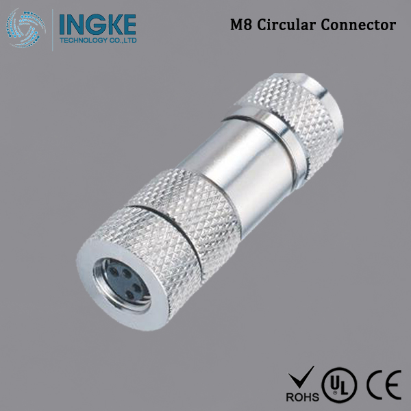 T4010019041-000 M8 Circular Connector Free Hanging IP67 Waterproof Sensor Socket 4Pin