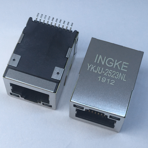YKJU-2523NL 10/100Base-T SMT RJ45 Magjack Connector Tab Up Modular Jack
