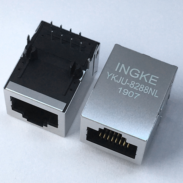 YKJU-8288NL RJ45 Magnetic Connector 10/100Base-T Modular Jack