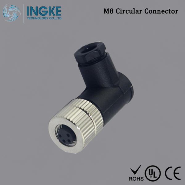 Cross T4112001031-000,T4112001041-000 M8 Circular Connector IP67 Sensor Socket