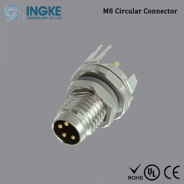 Substitute T4040034041-000 M8 Circular Connector IP67 Male Panel Mount Plug