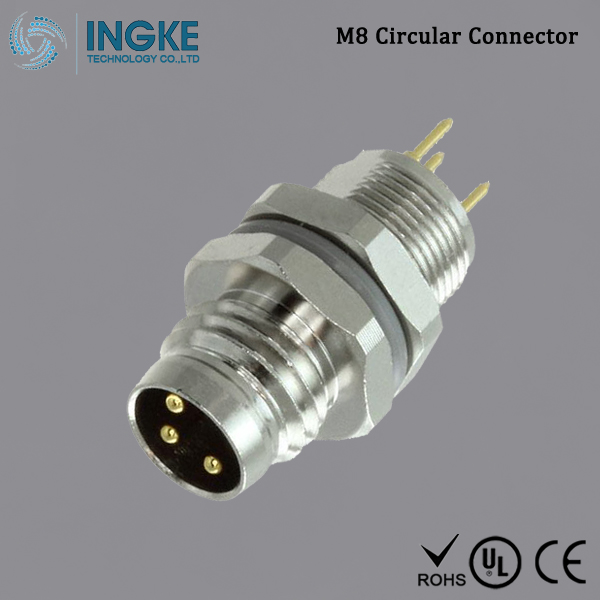 Substitute T4042014031-000 M8 Circular Connector IP67 Male Plug 3Pin
