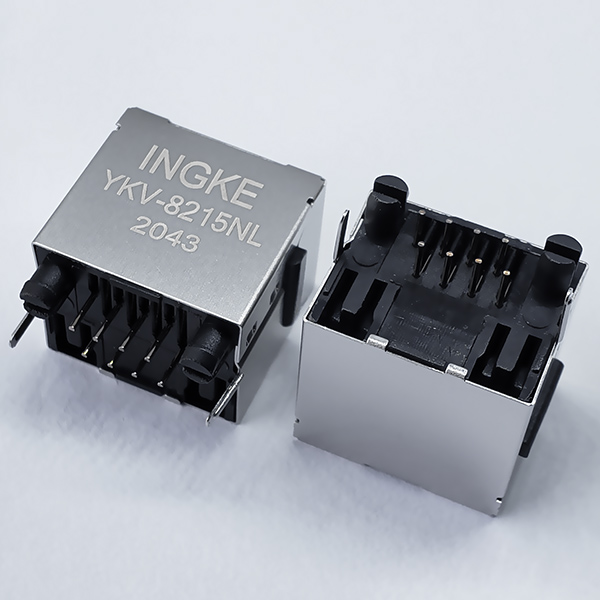 INGKE YKV-8215NL Vertical RJ45 Modular Jack without Magnetic and LED
