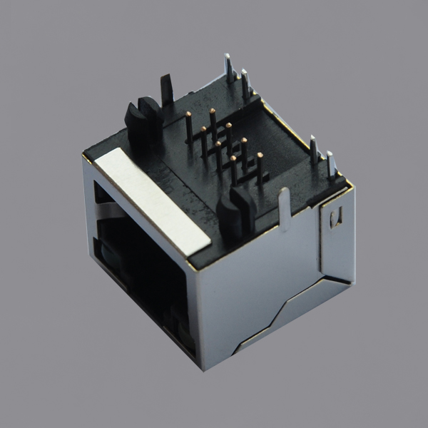 YKU-8135ENL Single Port Tab Up RJ45 Modular Jack with LED