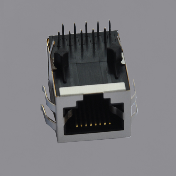 YKGD-8229NL 1000 Base-T Tab Down RJ45 Magjack Connector