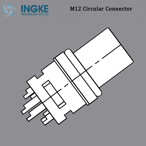 858-012-203RSS1 M12 Circular Metric Connector Female, Panel Mount, Solder Cup, A-Code,IP67,Shielded