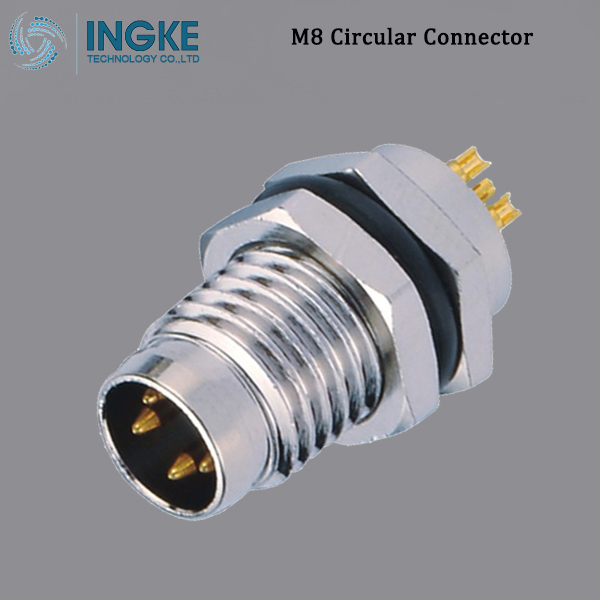 PXMBNI08RPM05BFL003 M8 Circular Metric Connector Male, Panel Mount, B-Code,IP67 Waterproof Sensor