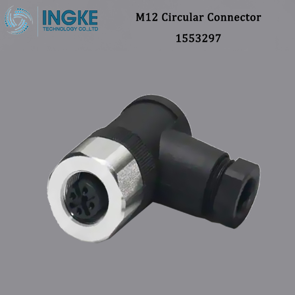1553297 M12 Circular Connector,A-Code,5Pin,IP67 Waterproof Screw Cable Assembly,SACC-M12FR-5CON