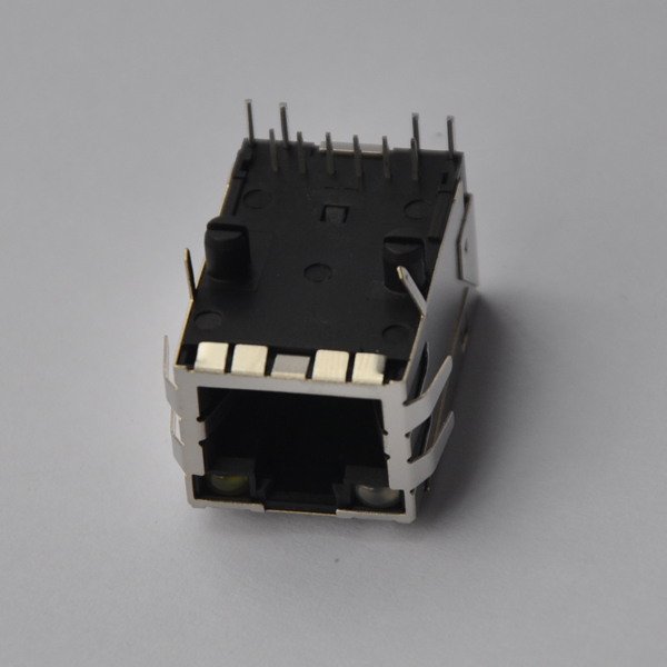 YKJU-8319NL 10/100 Base-T Tab Up RJ45 Jacks with LED