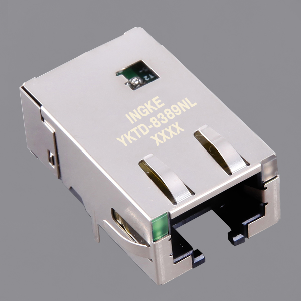 YKTD-8389NL 10G Base-T 1 Port Tab Down RJ45 Integrated Connector Modules (ICMs) with 50µ Gold Plated