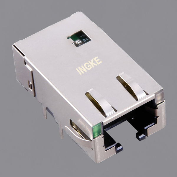 JT3-1105HL 10G Base-T Low Profile Long Body RJ45 Ethernet Connector (10GbE Magjack)