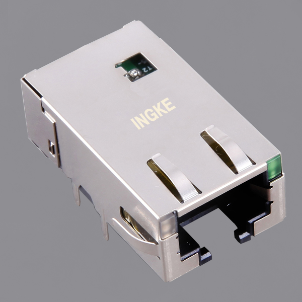JT3-1101HL 10G Base-T RJ45 Magjack Connector Low Profile Long Body with LED