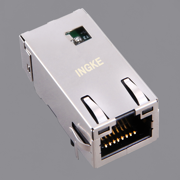 JT7-1119NL Tab Up 10G Base-T Long Body RJ45 Magjack Connector