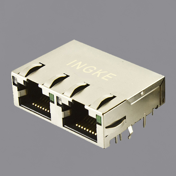 JTL-U1002NL 1X2 Ports RJ45 Ethernet Connector 10GBase-T with 10GbE Magnetic