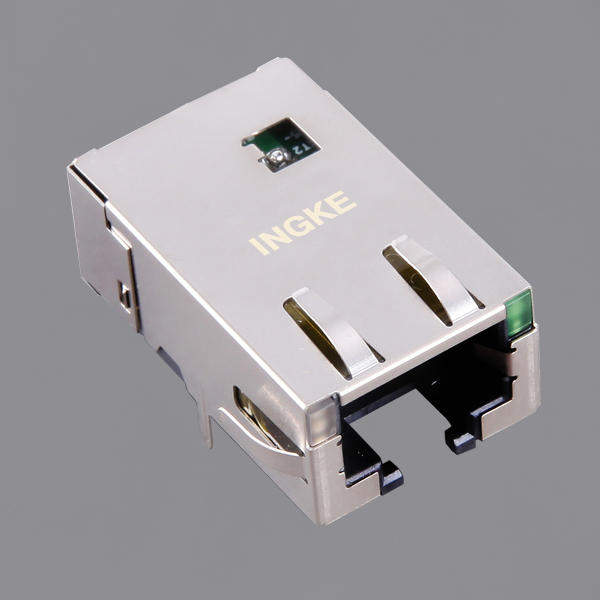JT4-1104HL Single Port 10GBase-T RJ45 Modular Jack Connector with EMI Finger